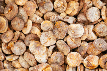 Dry figs as background. Health food concept.
