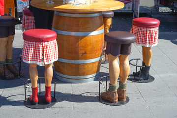 Bar stool in the form of human legs, funny ..
