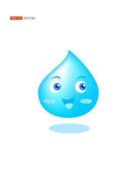 Water drop character, vector eps 10