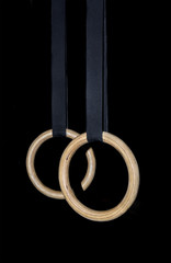 Gymnastic Rings - Gymnastic Rings isolated on black background