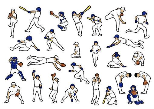 野球の選手