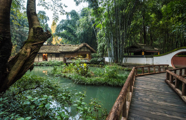 Du Fu thatched Cottage park, Chengdu,China