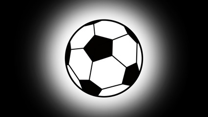 football logo, soccer logo on white background : black and white tone