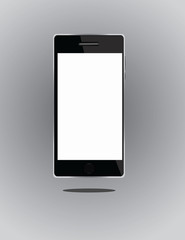 Vector Smart Phone With Blank Screen  Isolated