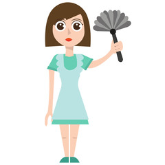 Cleaning woman, eps, vector, illustration, isolated.