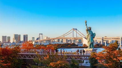 Statue of Liberty at Tokyo Bay in Odaiba