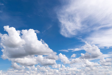 Fototapete - blue sky with tiny clouds for background or backgrop nature conc