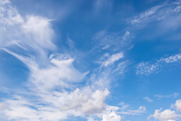 Fototapete - clear blue sky and clouds for background or backgrop nature conc