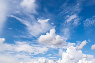 Fototapete - Sky and clouds with clear blue sky for background , backdrop