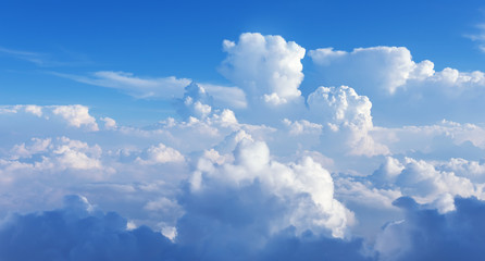 Abstract white clouds against blue sky