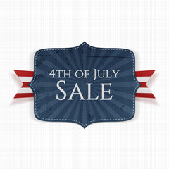 Fourth of July Sale realistic Label