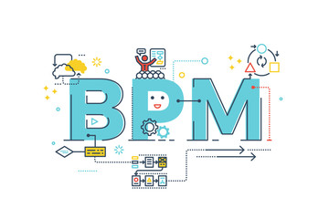 BPM : Business Process Management word