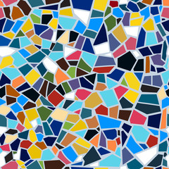 Vector abstract seamless mosaic pattern