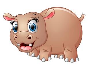 Cute funny hippo