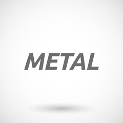 Illustration of   the text METAL