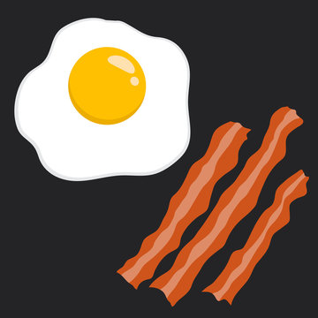 Bacon And Egg Vector Illustration
