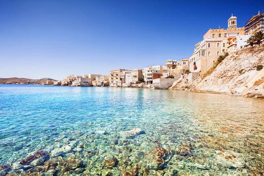 Greek town Ermoupoli, Syros island, Cyclades, Greece
