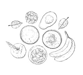Vector illustration of vegan detox smoothie.