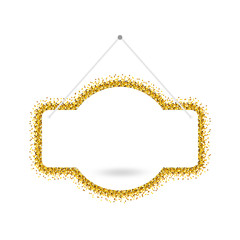 Gold sparkling ribbon