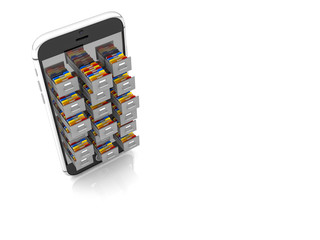 smart 3d mobile and files folder drawer