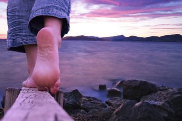 marche pieds nus - hyères l'almanarre