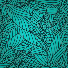 Keuken foto achterwand Tropische Bladeren Seamless Abstract Pattern
