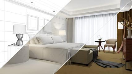 Planung und Entstehung von Hotelzimmer