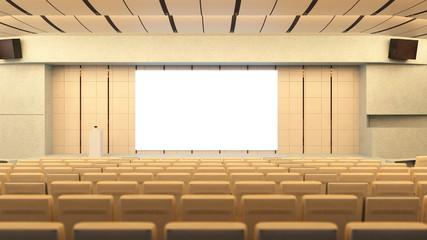 Saal mit Auditorium für Konferenz