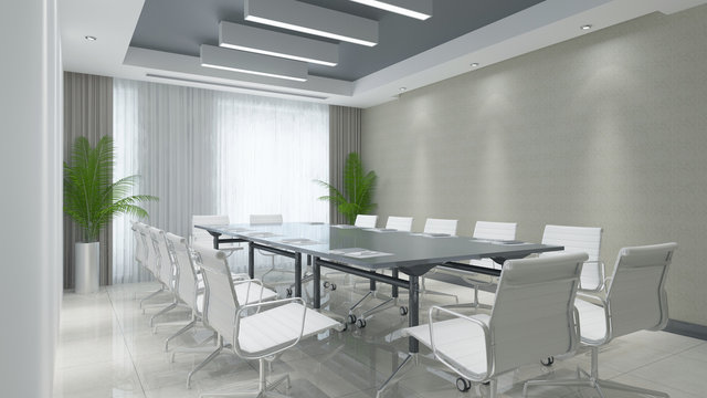 Konferenzraum mit Tisch und Stühlen