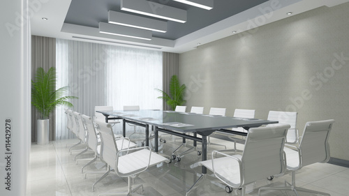 """""""Konferenzraum Mit Tisch Und Stühlen"""" Stock Photo And"""