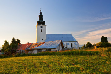 Church in a village of Turiec region, northern Slovakia.
