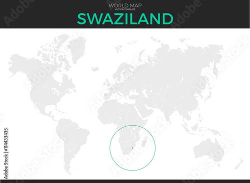 Kingdom of Swaziland Location Map\