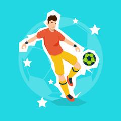 Football Player Kick Ball Sport Championship
