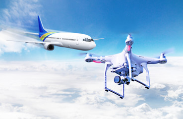 Drohne im Luftraum