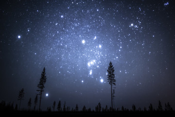 Bright stars in winter sky, Finalnd
