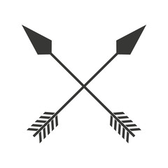 indian arrow  cross isolated icon design