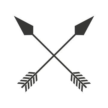 indian arrow  cross isolated icon design