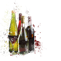 assortment of wine