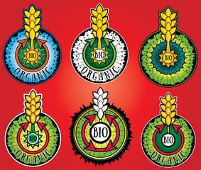 wheat farm organic bio product design stamps