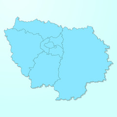 Paris Isle blue map on degraded background vector