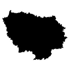 Paris Isle black map on white background vector