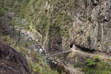 Suspension bridge near the bottom of the gorge.