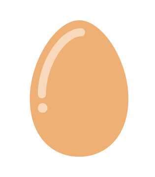 delicious egg hen isolated icon design