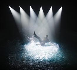 Break dance in water.