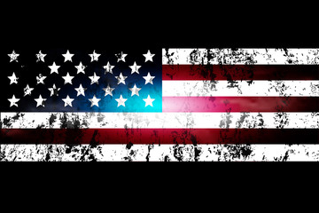 darkened background of the USA flag