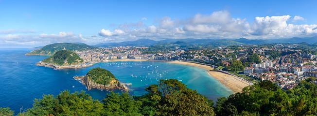 Panoramic view of San Sebastian in Spain