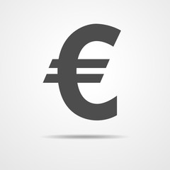 Euro icon - vector illustration.