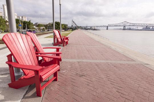Waterfront Promenade in Baton Rouge, Louisiana