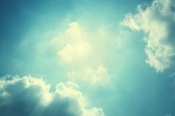 Wall Mural - blue sky and sun