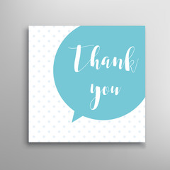Thank you phrase. Vector lettering